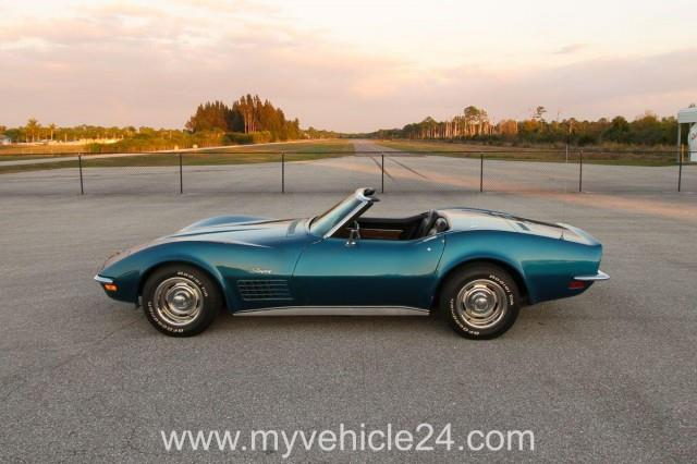 neu eingetroffen 1972 chevrolet corvette c3 cabrio numbers matching. Black Bedroom Furniture Sets. Home Design Ideas