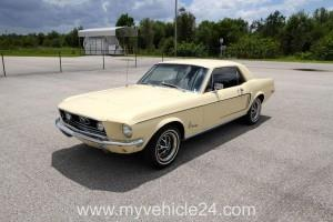 Pic Main - 1968 Ford Mustang - myVEHICLE24 - US-Cars, Muscle Cars, Classic Cars, Motorcycles & Boats, Worldwide Shipping